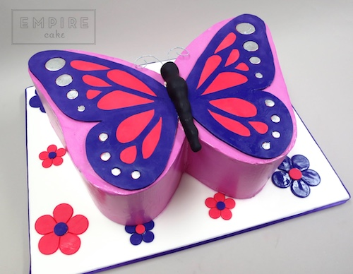 Butterfly Birthday Cakes Template