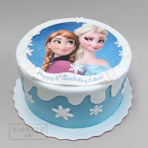 Elsa And Anna Cake Decoration : Frozen Edible Image Decoration Package - Empire Cake