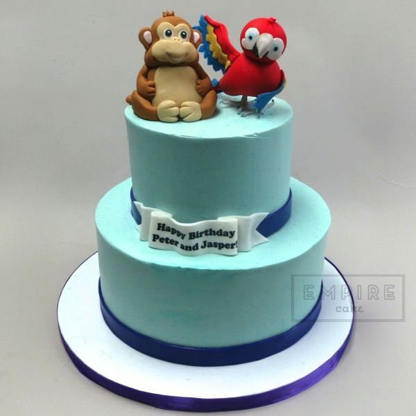 Monkey Parrot Empire Cake