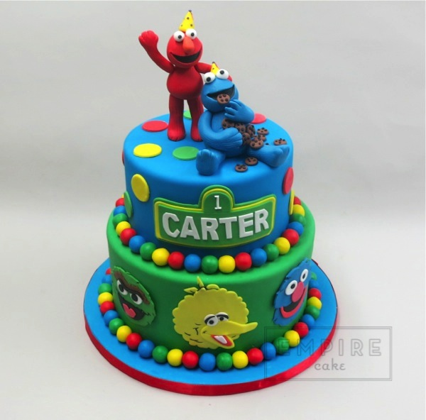 Sesame Street Two Tier Empire Cake