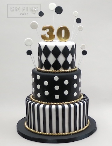 Black And White Birthday Cakes For Her