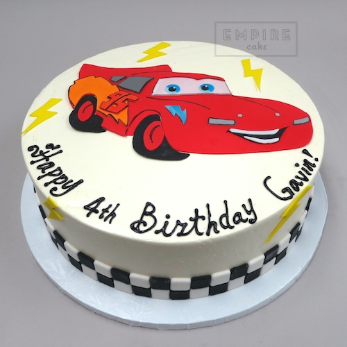 Lightning Mcqueen From Cars Flat Fondant Empire Cake