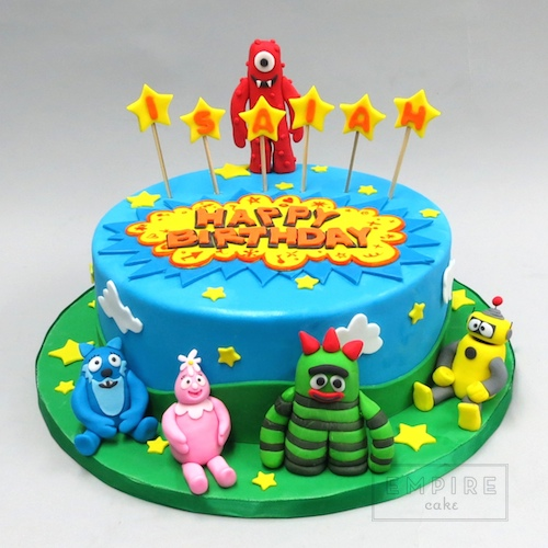 Yo Gabba Gabba Single Tier Empire Cake