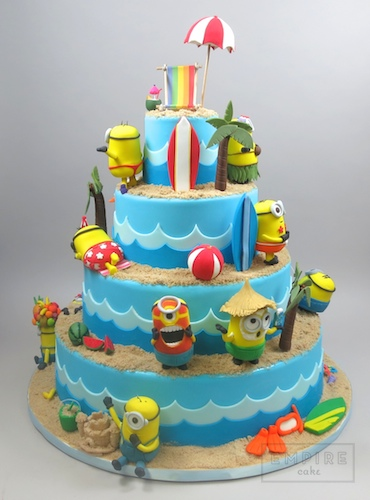 Minion Beach Birthday Cake
