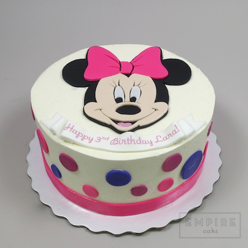 Minnie Mouse (flat fondant) - Empire Cake