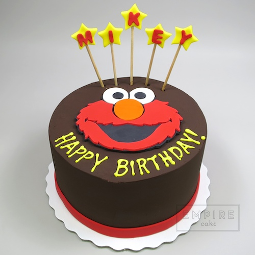 Elmo with name on sticks empire cake for Elmo template for cake