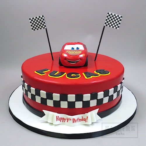 Cars Cake With 3d Lightning Mcqueen Empire Cake