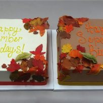 Autumn Leaves Half Sheet Cakes