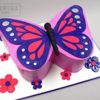 Butterfly-Shaped Cake
