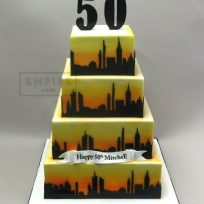 New York Skyline Four Tier