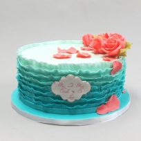 Ombre Ruffles & Roses
