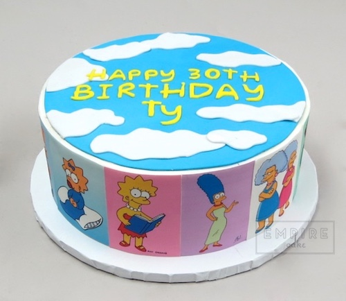 Miraculous Simpsons Photo Wrap Empire Cake Funny Birthday Cards Online Alyptdamsfinfo