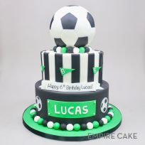 Soccer Ball (tiered cake)
