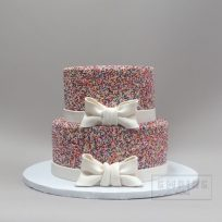 Sprinkles with Bow – Two Tiered