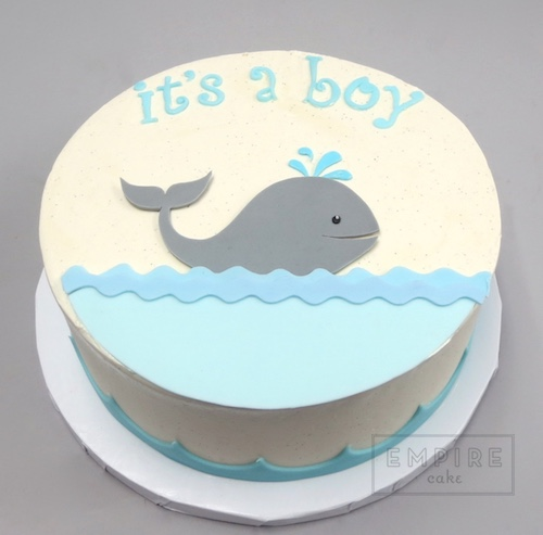 Whale Baby Shower Empire Cake
