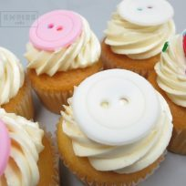 Baby Buttons Cupcakes