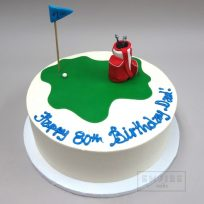 Golf Course with Fondant Grass