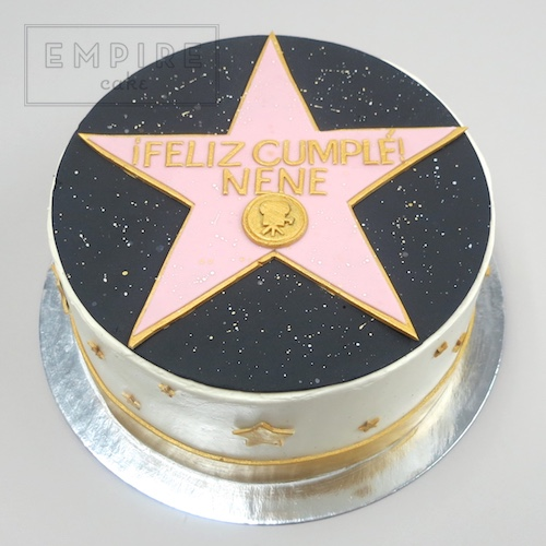 Hollywood Walk Of Fame Star Empire Cake
