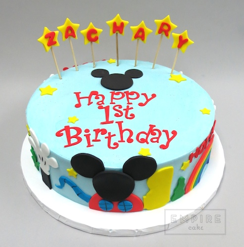 Mickey Mouse Clubhouse Single Tier Empire Cake