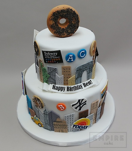 Super Nyc Bagel Birthday Empire Cake Funny Birthday Cards Online Fluifree Goldxyz