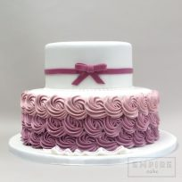 Ombre Purple Rosettes & Bow