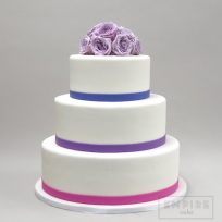 Purple Roses & Pastel Bands