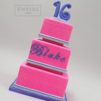 Quilted Purple & Pink Sweet 16