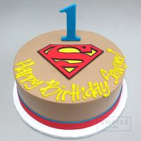 Flat Fondant Logo + Number Decoration Package (Superman Example)
