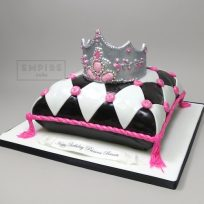 Harlequin Pillow with Tiara