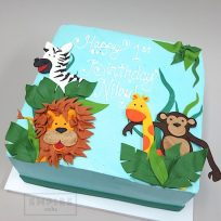 Jungle Animals (flat fondant)