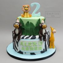 Jungle Cake with Zebra Tier