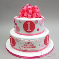 Loopy Bow & Polka Dots (Two Tier)