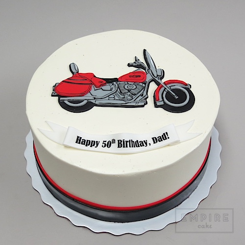 Motorcycle Flat Fondant Empire Cake