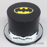 Batman Symbol on Black Fondant