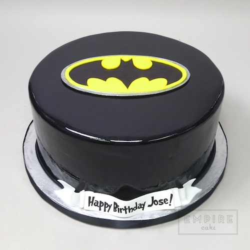 Batman Symbol Fondant Cake Version Empire Cake