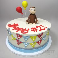 Curious George with Balloons (single tier)