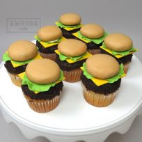 Hamburger Topper Cupcakes
