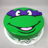 Teenage Mutant Ninja Turtle with banner (fondant covered)