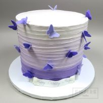 Textured Buttercream & Purple Butterflies
