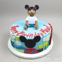 MIckey Mouse Clubhouse with Personalized Baby Topper
