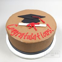 Mortarboard and Diploma (flat fondant)