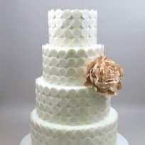 Champagne Peony & Pearlized Dots