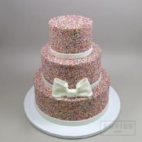 Sprinkles with Bow (three tier)