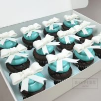 Blue with Bows Cupcakes