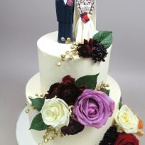 Couple Topper with Roses