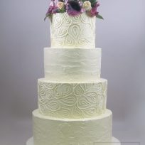 Paisley Buttercream with Fresh Flowers
