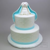 Bunny with Swiss Dots (two tier)