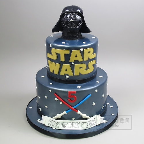 Magnificent Star Wars With Darth Vader Topper Empire Cake Birthday Cards Printable Trancafe Filternl