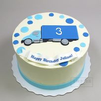 Truck with Polka Dots (flat fondant)
