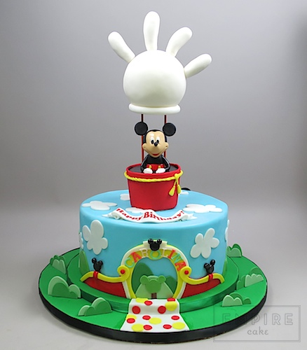Cool Mickey Mouse Clubhouse With Balloon Empire Cake Funny Birthday Cards Online Hendilapandamsfinfo